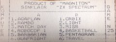 - кассеты с играми для ZX Spectrum