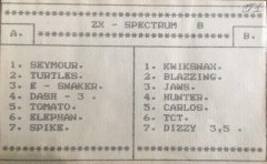 ZX - SPECTRUM 8 - кассеты с играми для ZX Spectrum