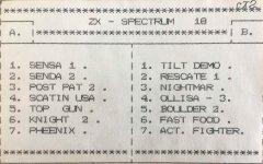 ZX - SPECTRUM 18 - кассеты с играми для ZX Spectrum