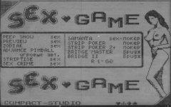 Sex Game - кассеты с играми для ZX Spectrum