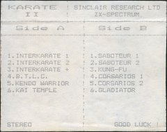 Karate II - кассеты с играми для ZX Spectrum