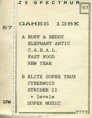 Games 128K - кассеты с играми для ZX Spectrum