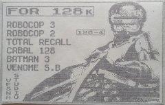 FOR 128K - кассеты с играми для ZX Spectrum