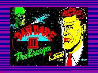 Dan Dare III: The Escape — ZX SPECTRUM GAME ИГРА