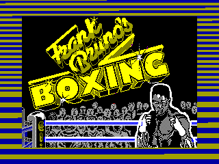 Frank Bruno's Boxing — ZX SPECTRUM GAME ИГРА