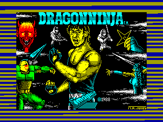 Dragon Ninja — ZX SPECTRUM GAME ИГРА