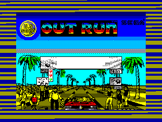 OUT RUN — ZX SPECTRUM GAME ИГРА