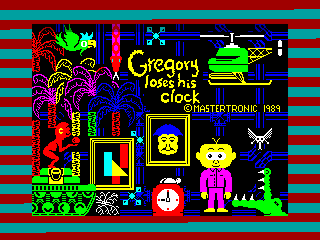 Gregory Loses His Clock — ZX SPECTRUM GAME ИГРА