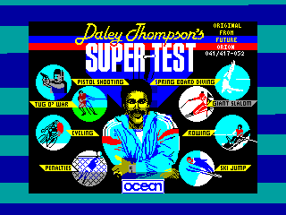 Daley Thompson's Supertest — ZX SPECTRUM GAME ИГРА