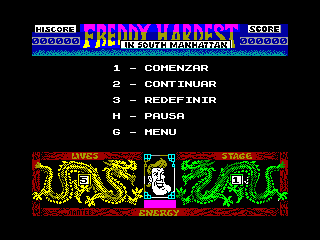 Freddy Hardest en Manhattan Sur — ZX SPECTRUM GAME ИГРА