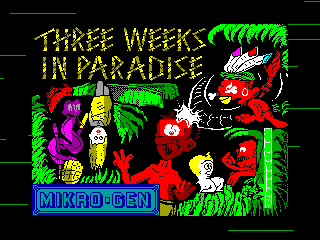THREE WEEKS IN PARADISE — ZX SPECTRUM GAME ИГРА