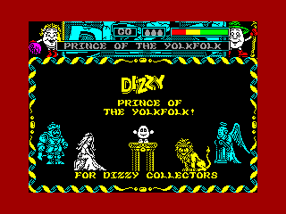 Dizzy, Prince of the YolkFolk — ZX SPECTRUM GAME ИГРА