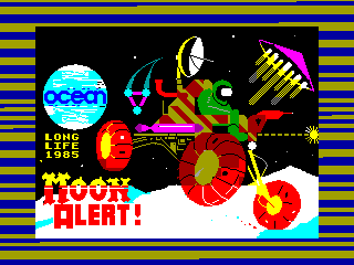 Moon Alert — ZX SPECTRUM GAME ИГРА