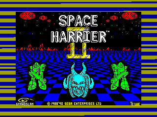 Space Harrier II — ZX SPECTRUM GAME ИГРА