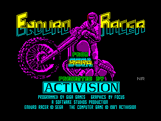 Enduro Racer — ZX SPECTRUM GAME ИГРА