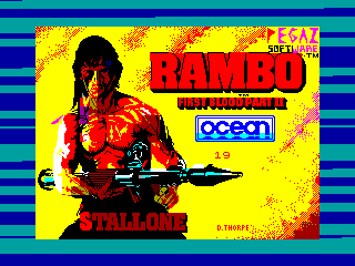 RAMBO 2 — ZX SPECTRUM GAME ИГРА