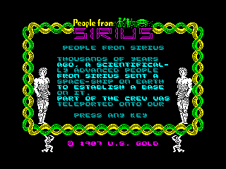 People from Sirius — ZX SPECTRUM GAME ИГРА