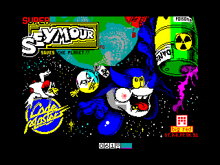 SUPER SEYMORE SAVE THE PLANET — ZX SPECTRUM GAME ИГРА