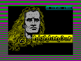 Highlander — ZX SPECTRUM GAME ИГРА