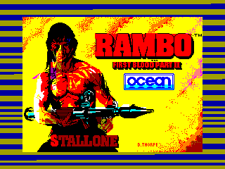 Rambo — ZX SPECTRUM GAME ИГРА