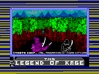 Legend of Kage — ZX SPECTRUM GAME ИГРА