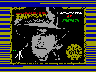 INDIANA JONES AND THE TEMPLE OF DOOM — ZX SPECTRUM GAME ИГРА