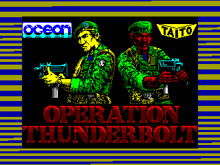 Operation Thunderbolt — ZX SPECTRUM GAME ИГРА
