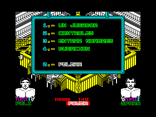 POLI DIAZ BOXEO — ZX SPECTRUM GAME ИГРА