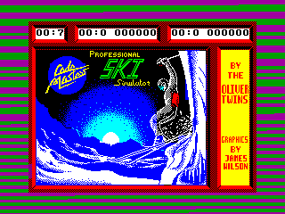 Professional Ski Simulator — ZX SPECTRUM GAME ИГРА