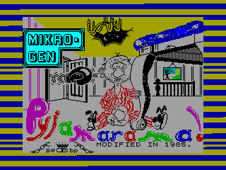PYJAMARAMA — ZX SPECTRUM GAME ИГРА