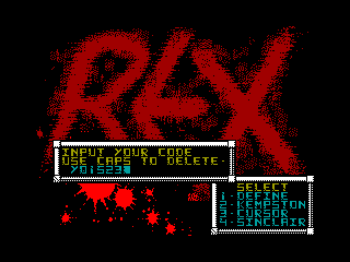 REX 2 — ZX SPECTRUM GAME ИГРА