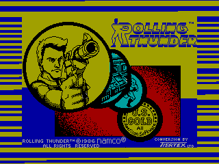 Rolling Thunder — ZX SPECTRUM GAME ИГРА