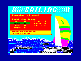 SAILING — ZX SPECTRUM GAME ИГРА