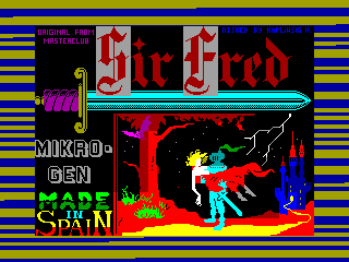 SIR FRED — ZX SPECTRUM GAME ИГРА