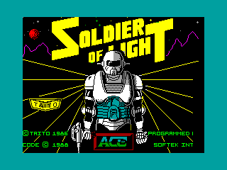 Soldier of Light — ZX SPECTRUM GAME ИГРА