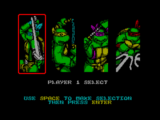 TEENAGE MUTANT HERO TURTLES 2 — ZX SPECTRUM GAME ИГРА