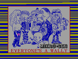 EVERYONE'S IS WALLY — ZX SPECTRUM GAME ИГРА