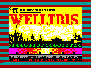 Welltris — ZX SPECTRUM GAME ИГРА