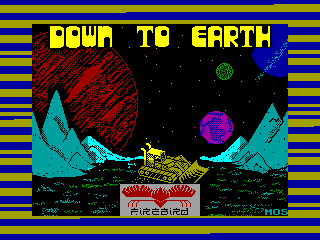 Down to Earth — ZX SPECTRUM GAME ИГРА