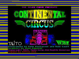 Continental Circus — ZX SPECTRUM GAME ИГРА