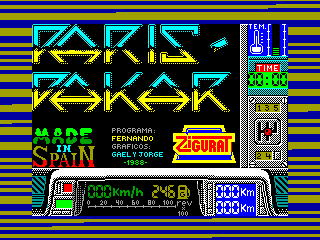 Paris-Dakar — ZX SPECTRUM GAME ИГРА