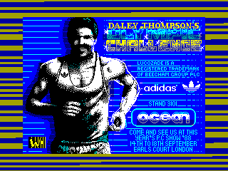 DALEY THOMPSON OLYMPIC CHALLENGE — ZX SPECTRUM GAME ИГРА