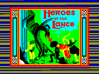 Heroes of the Lance — ZX SPECTRUM GAME ИГРА
