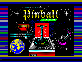 ADVANCED PINBAL SIMULATOR — ZX SPECTRUM GAME ИГРА