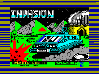 INVASION — ZX SPECTRUM GAME ИГРА