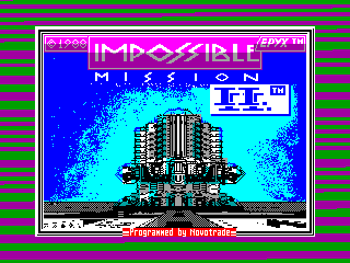 Impossible Mission II — ZX SPECTRUM GAME ИГРА