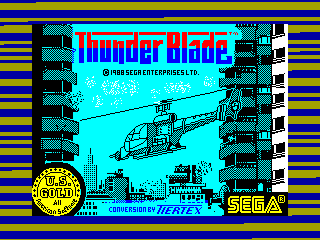 THUNDER BLADE — ZX SPECTRUM GAME ИГРА